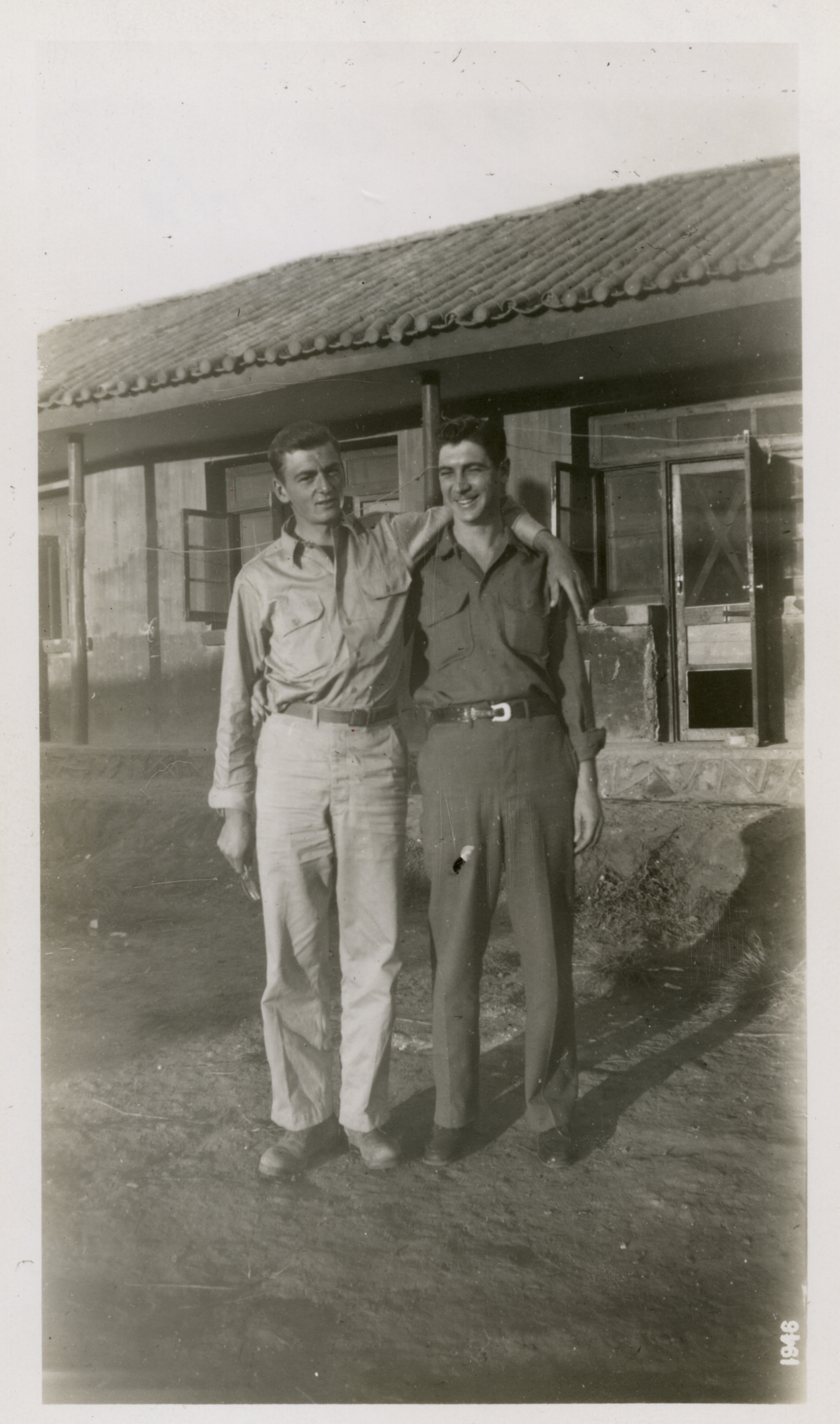 U S  Military Police Vinkia and Griffin in Kunming, China in 1945
