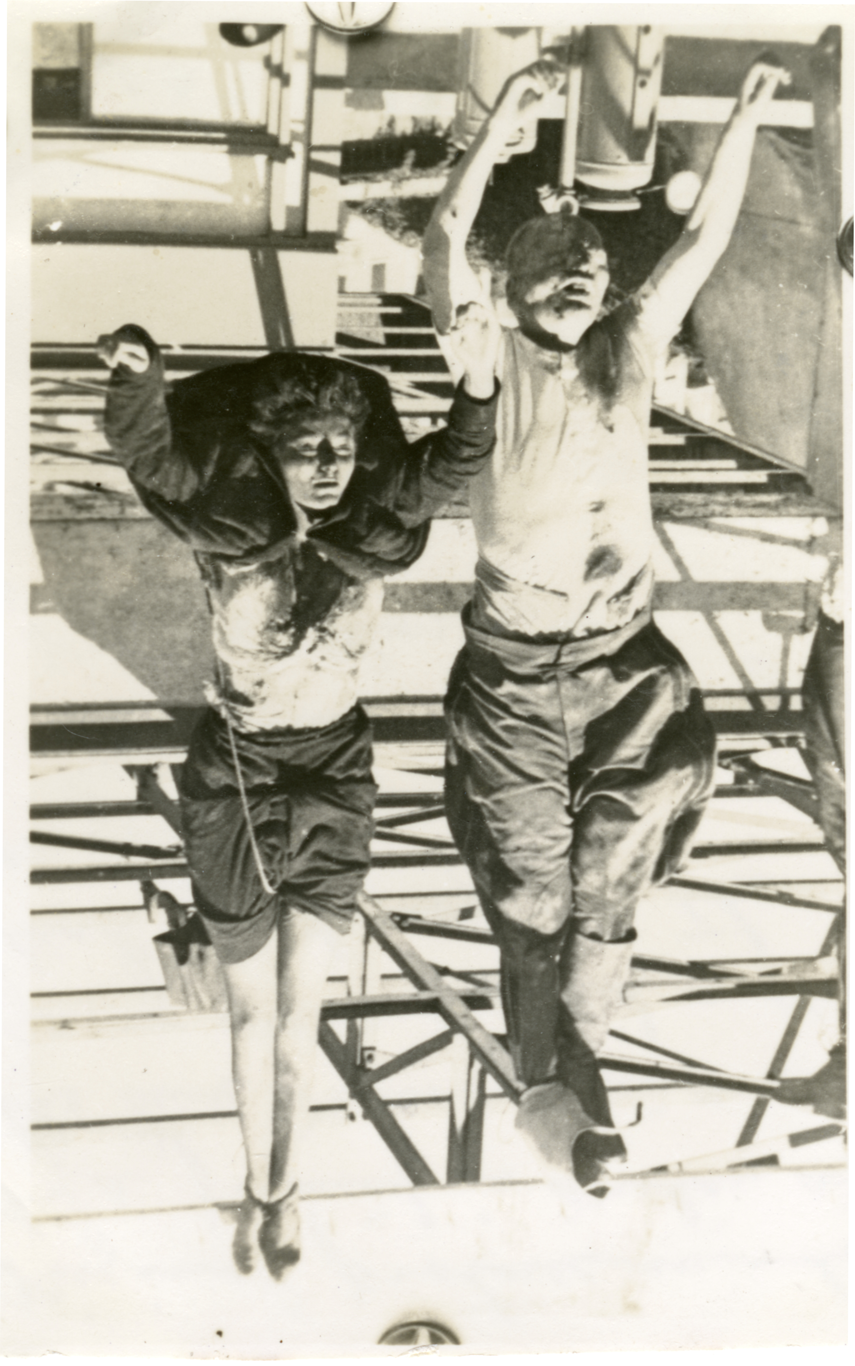 Benito Mussolini and Clara Petacci hanging after execution