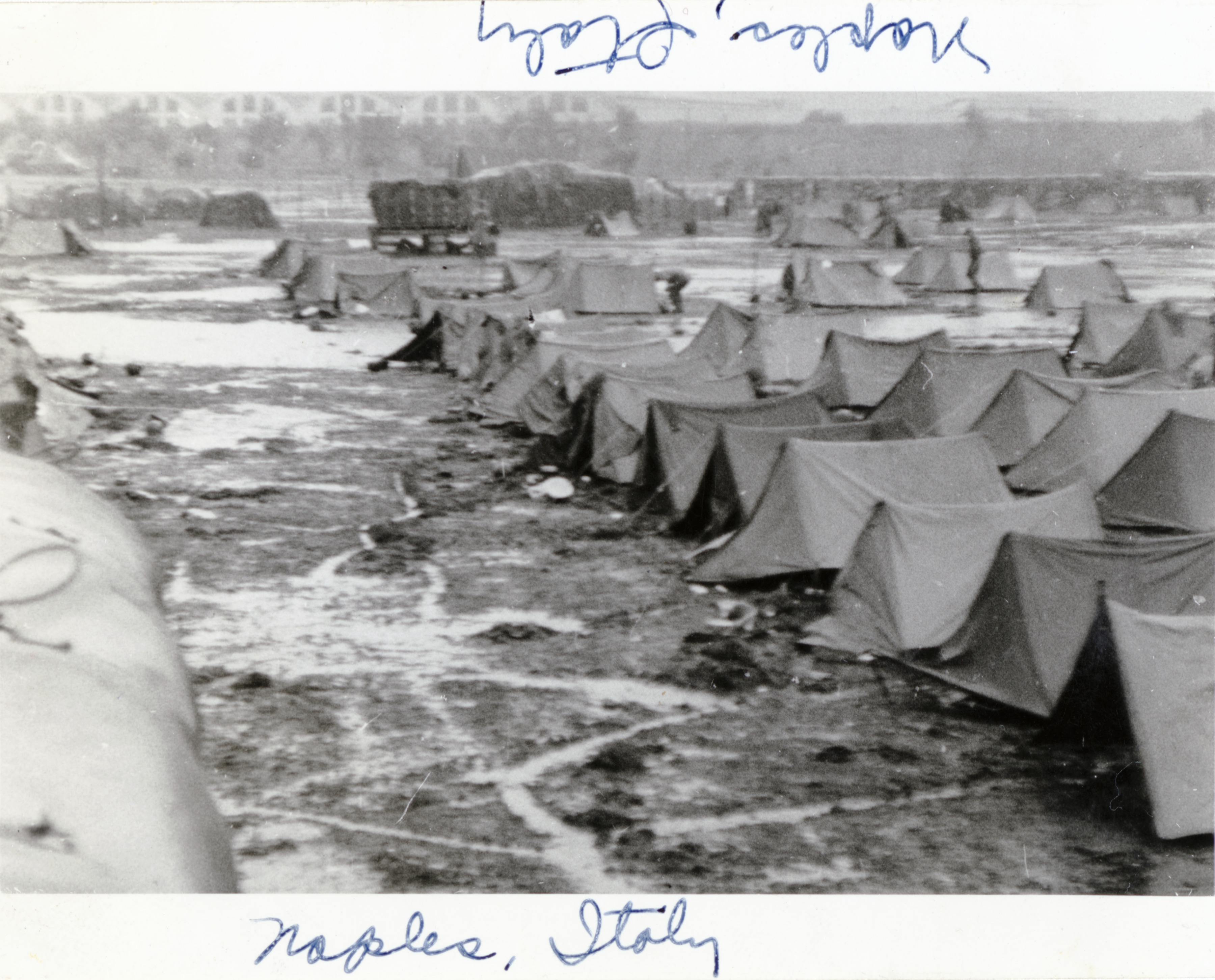 Gift of Vincent Yannetti from the collection of The National World War II Museum. Description Military c& with lines of pup tents. & Military camp with lines of pup tents in Italy. | The Digital ...