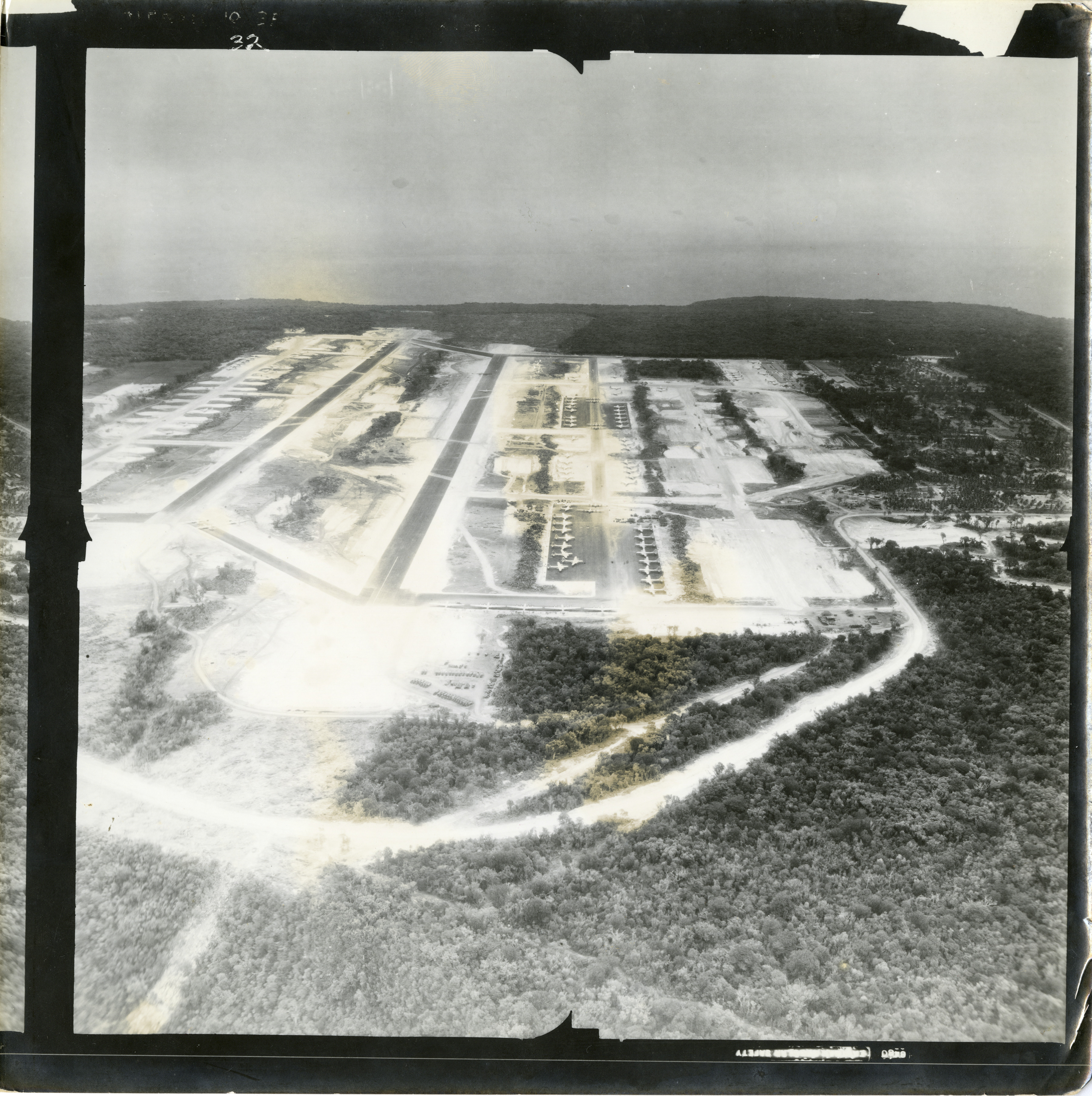 Aerial photograph of Anderson Air Force Base (probably) on
