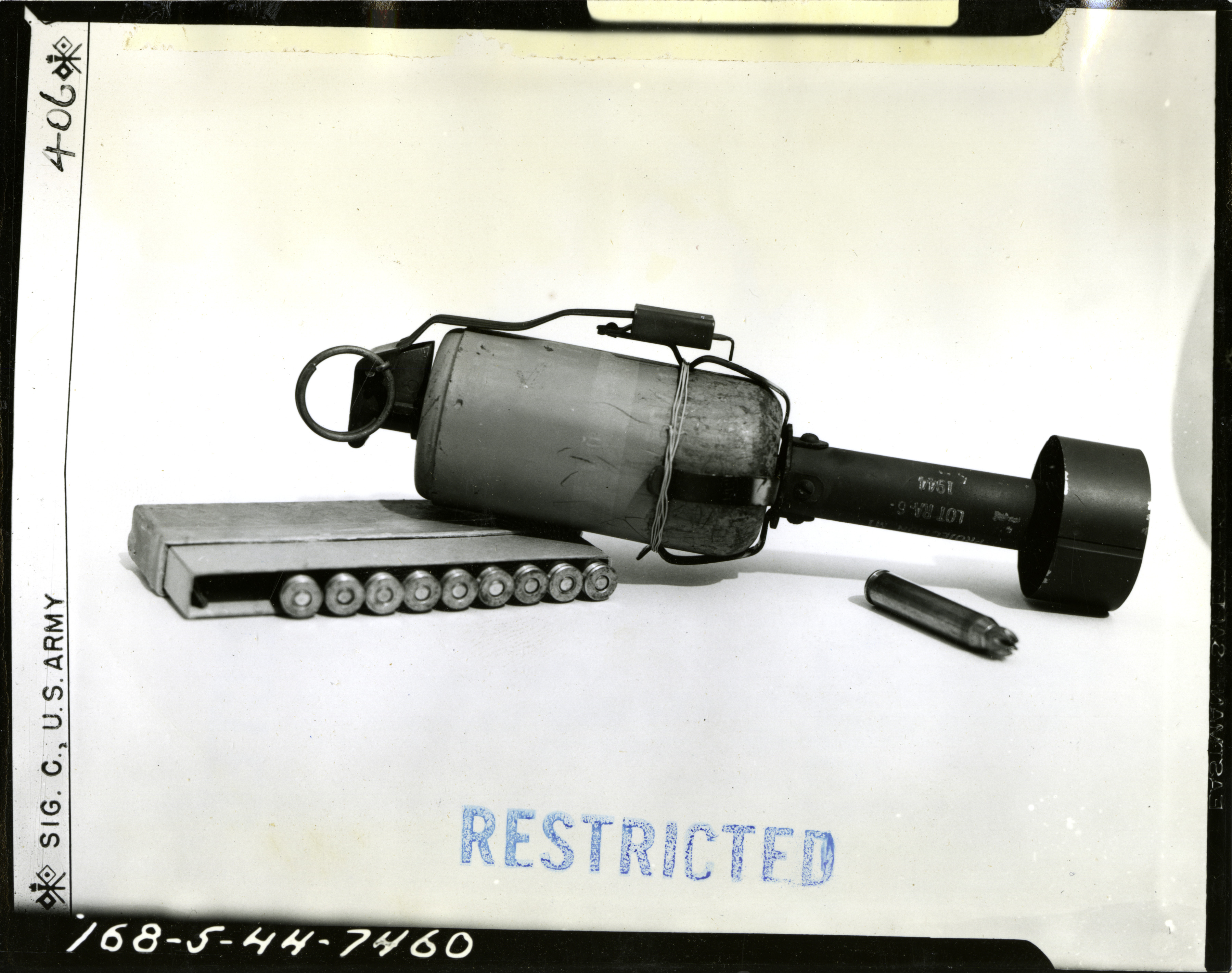 A fragmentation grenade launcher adapted for use with a