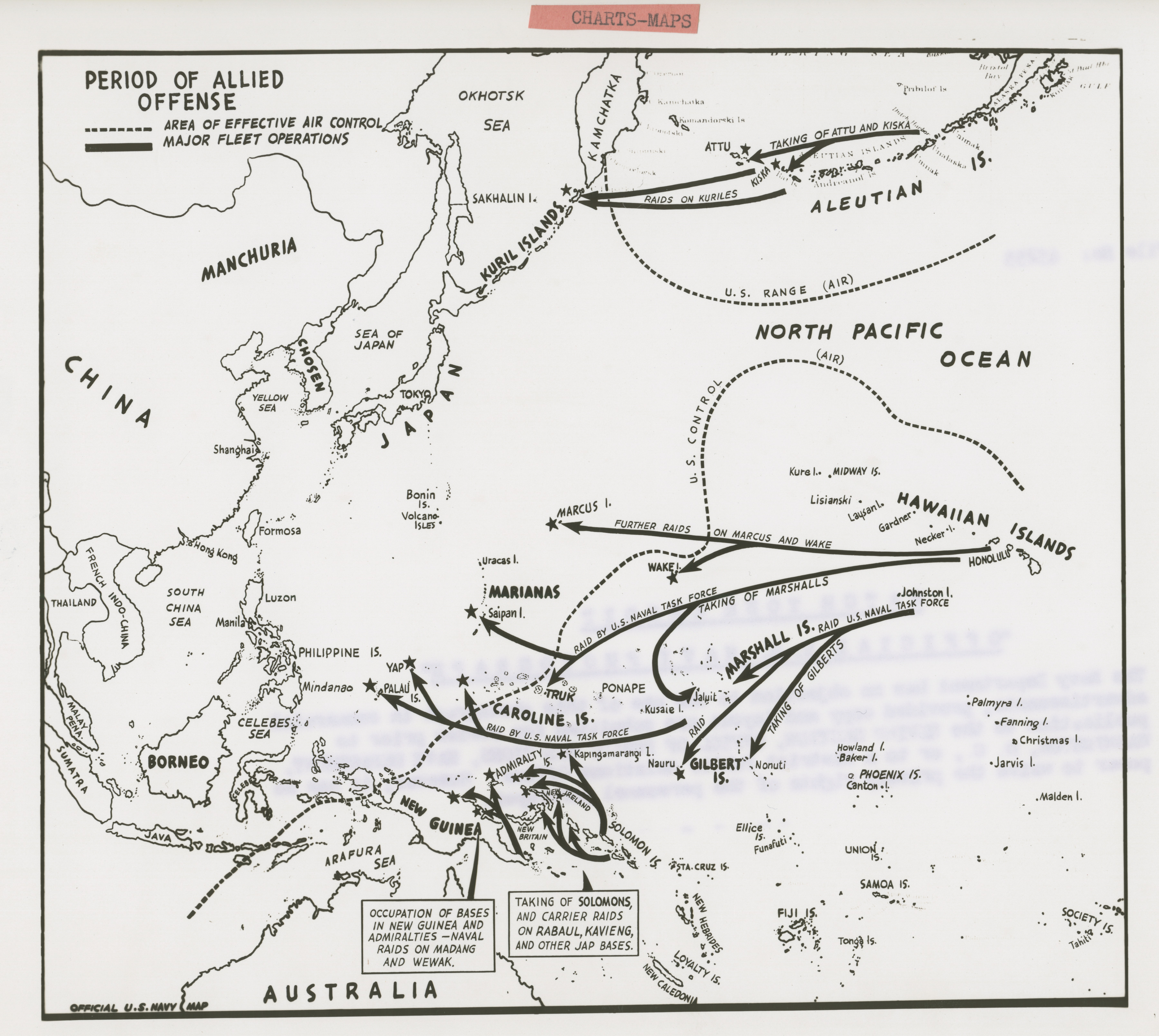 Official U S Navy Map Of Western Pacific The Digital - Us navy map