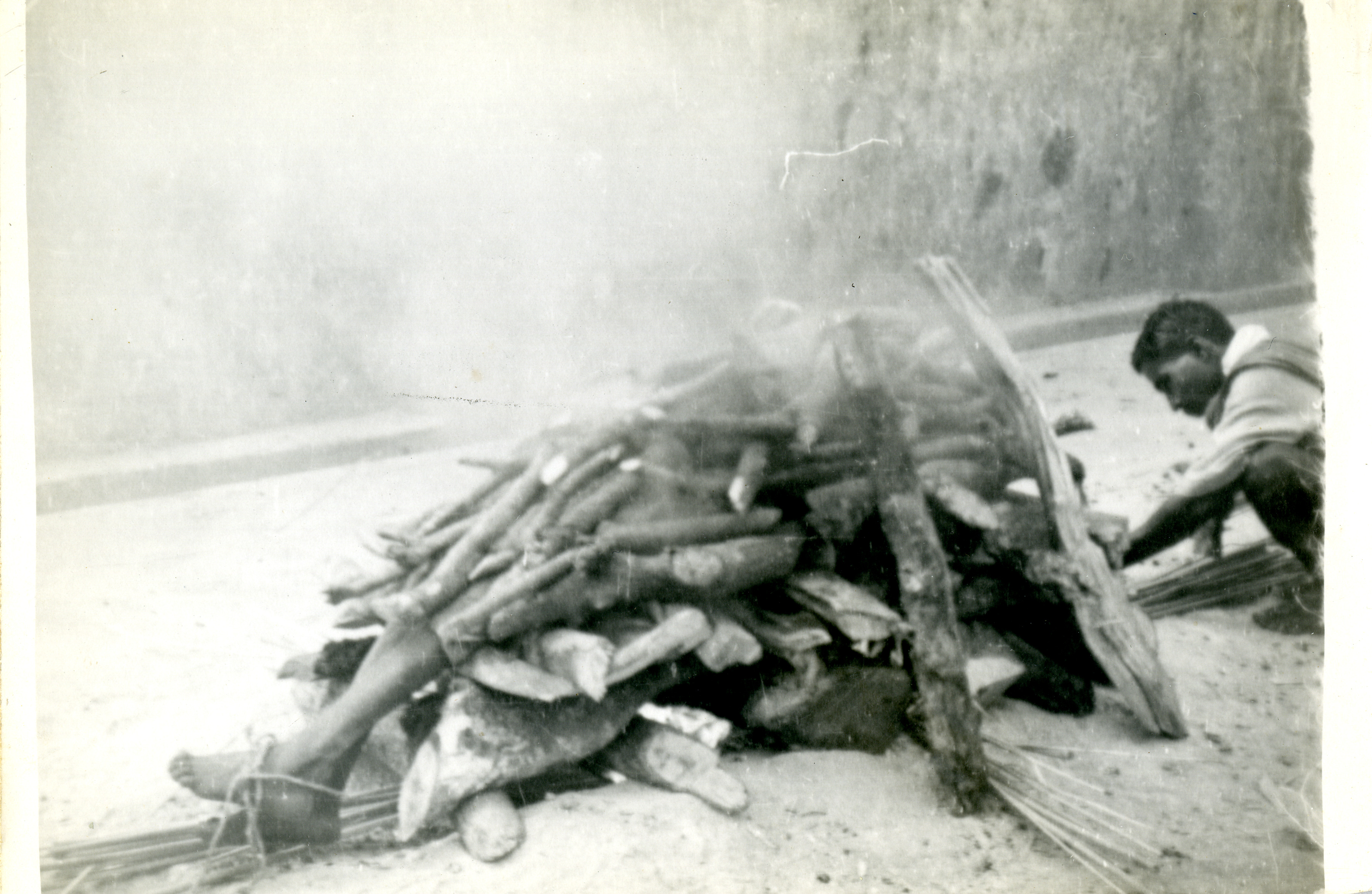A funeral pyre in India in 1943 | The Digital Collections of