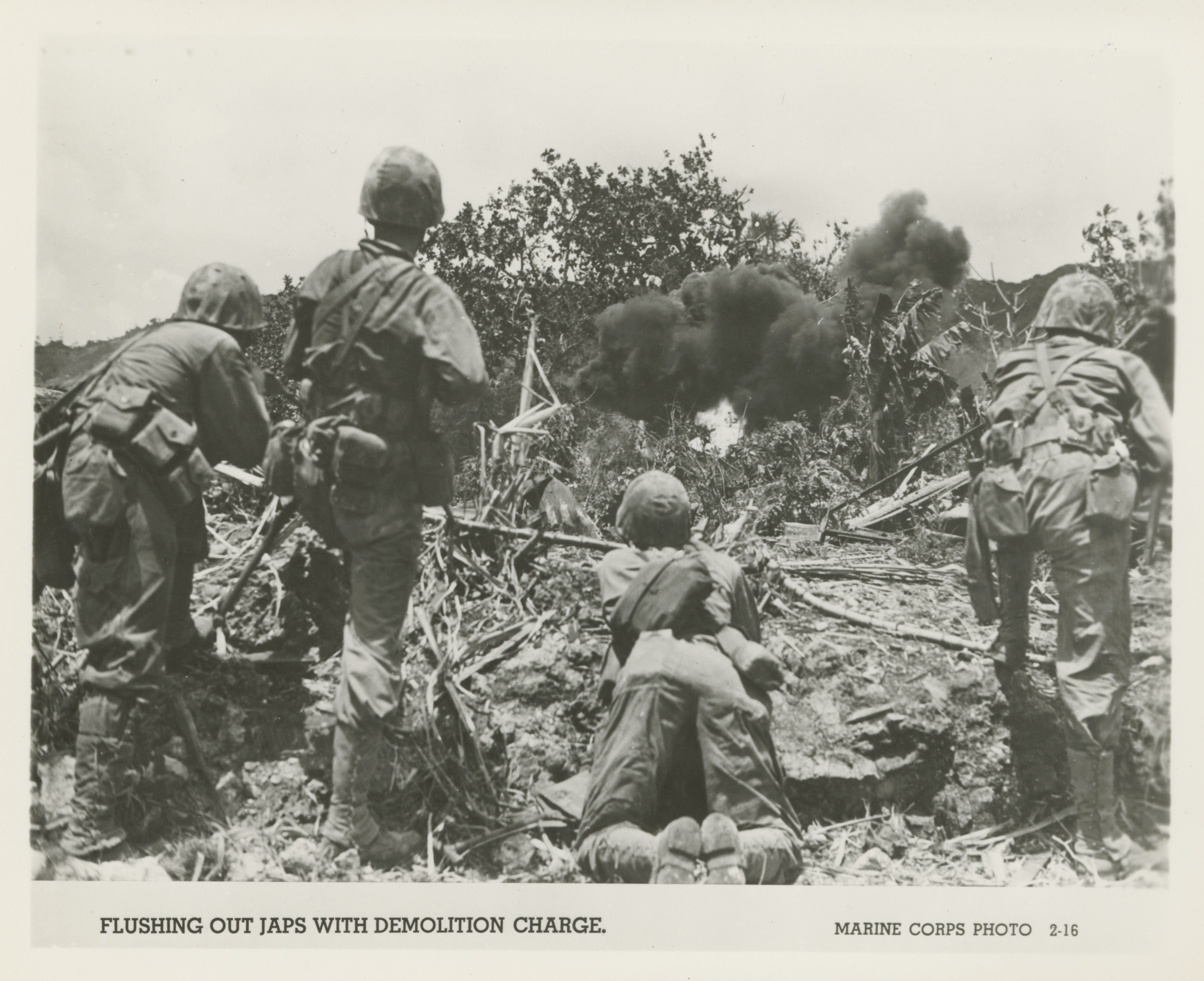 Us Marines Flushing Out Japanese Troops Saipan 1944 The Digital Collections Of The National Wwii Museum Oral Histories